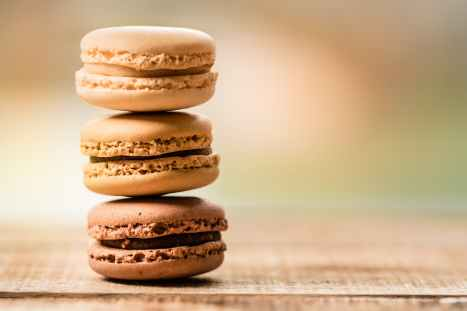 stacked three macaroons